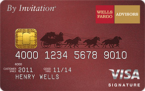Wells Fargo Advisors By Invitation Visa Signature®